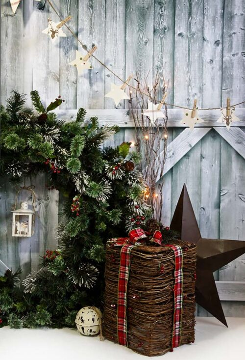 Christmas Wreath Photography Backdrop