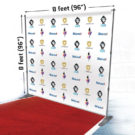 Backdrop Stand with red carpet