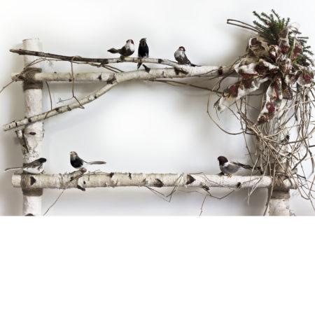 Birch Headboard with birds Photography Backdrop