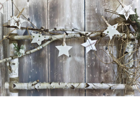 Birch Headboard with Stars Photography Backdrop