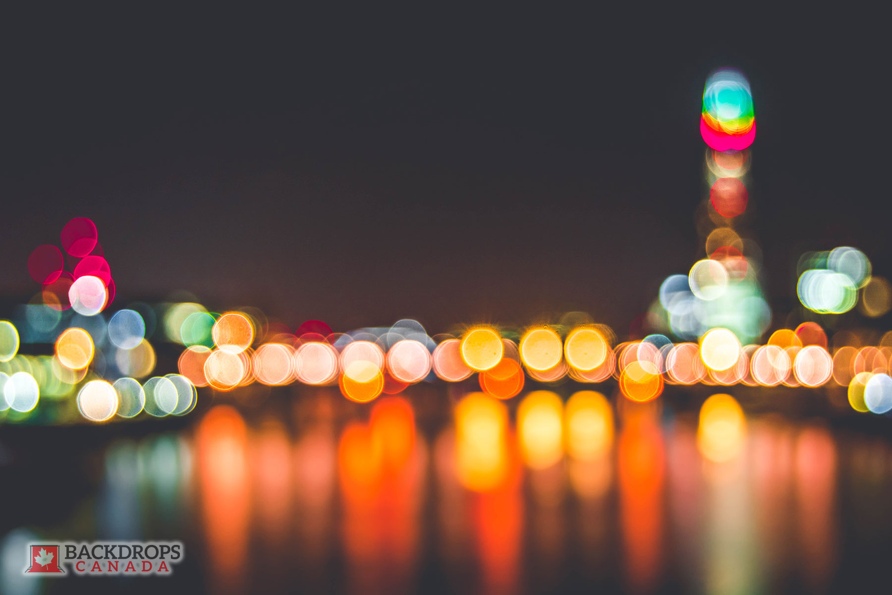 Bokeh at Night Photography Backdrop
