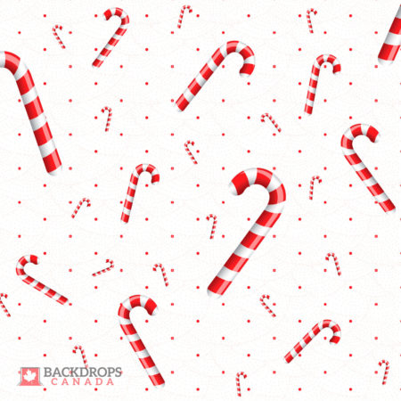 Candy Cane Photography Backdrop