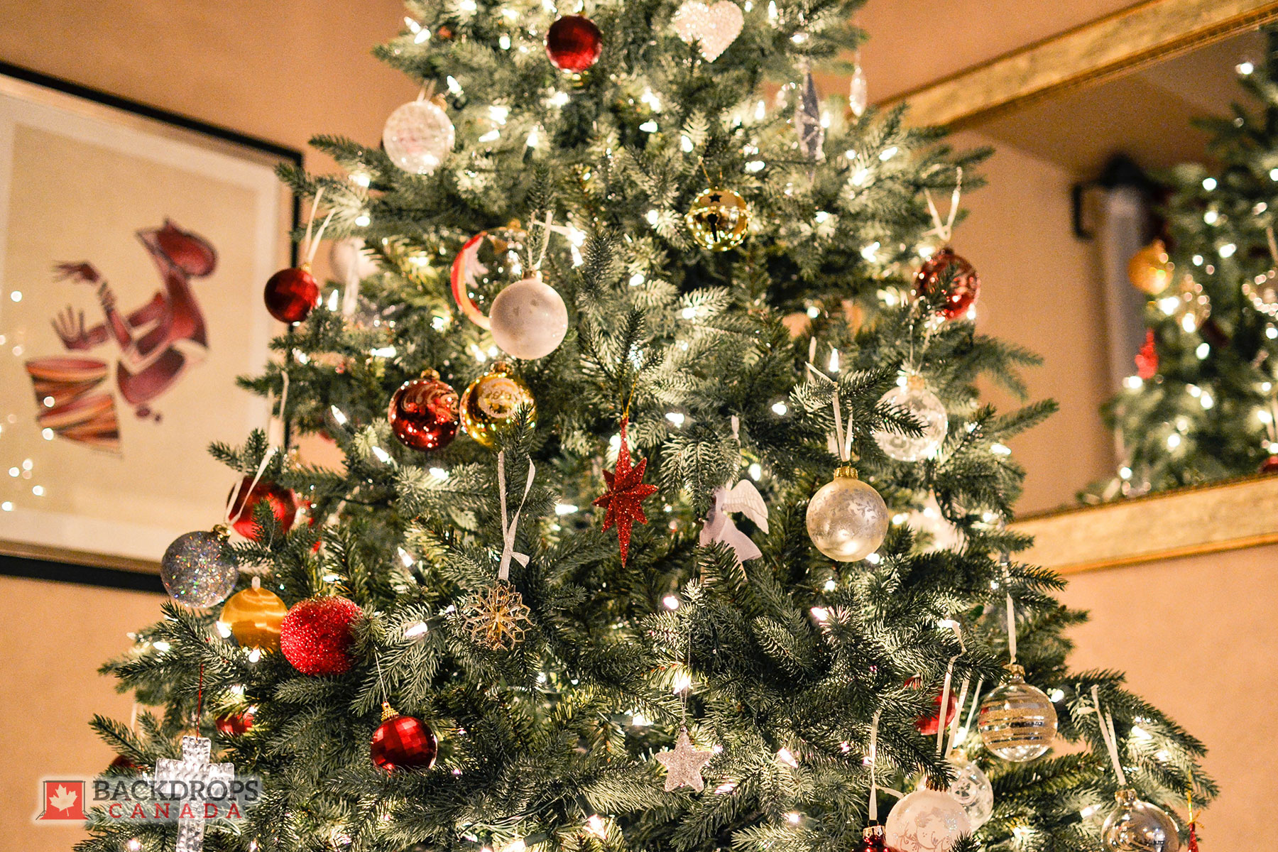 Christmas Tree Close Up Photography Backdrop