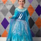 Halloween Grunge backdrop with young girl dressed as Elsa from Frozen