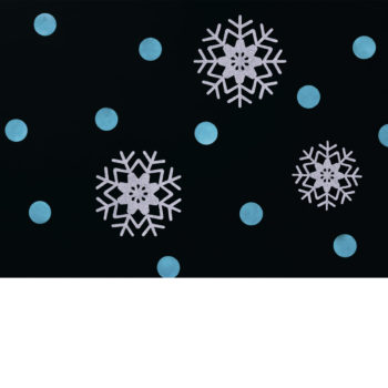 Blue Polka Dot and Snowflake Photography Backdrop