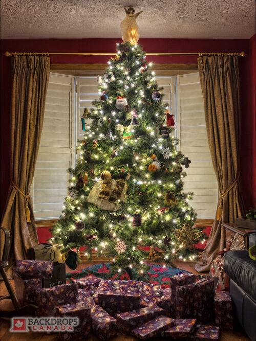 Christmas Tree Photography Backdrop