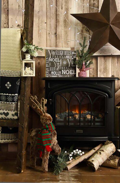 Fireplace Photography Backdrop