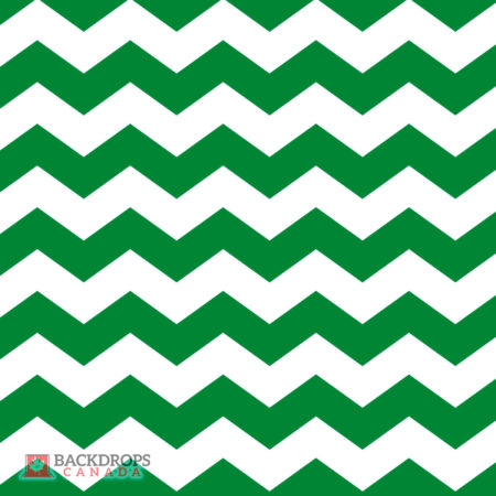Chevron Christmas Green