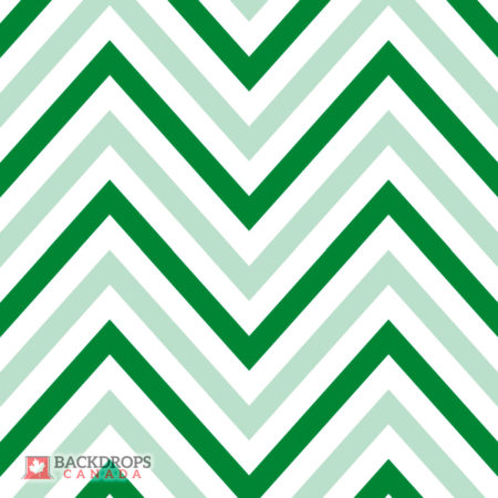 Chevron Christmas Green Two Tone
