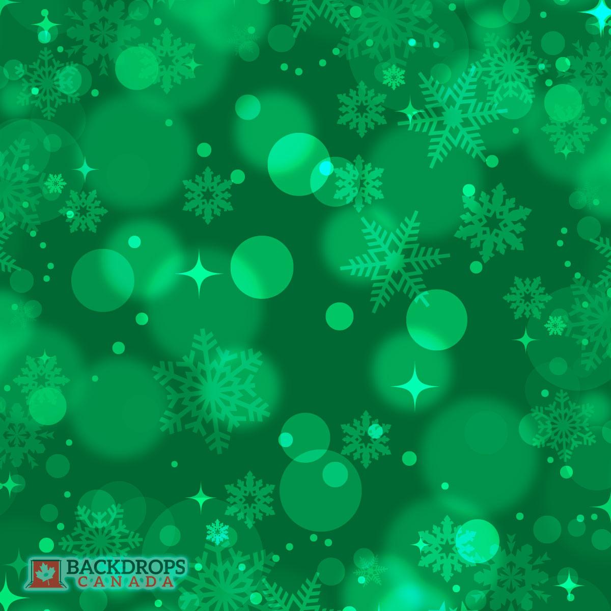 Christmas Green Bokeh Photography Backdrop