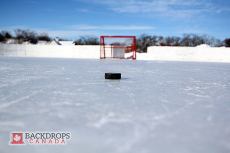 Outdoor Hockey Rink Photography Backdrop