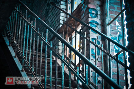 Graffiti Stairs Photography Backdrop