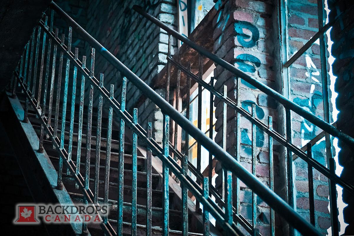 Graffiti Stairs Photography Backdrop