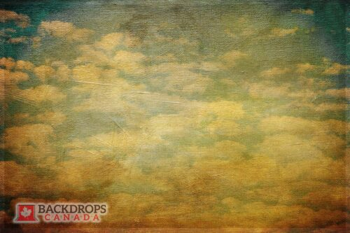Vintage Clouds Photography Backdrop