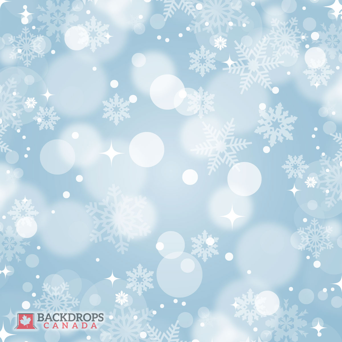 Bokeh Winter Blue Photography Backdrop
