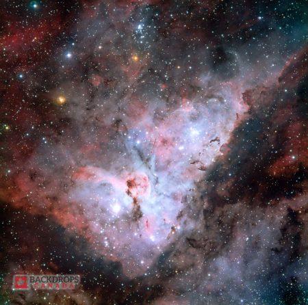 Carina Nebula Space Photography Backdrop