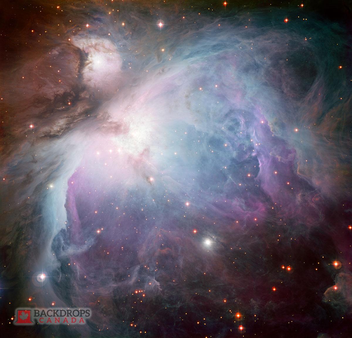 Orion Nebula Space Photography Backdrop