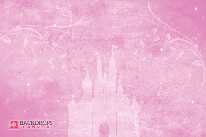 Pink Photography Backdrop with Castle