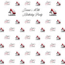 40th Birthday High Heel Photography Backdrop Step & Repeat