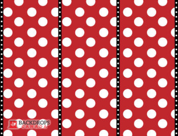 Mickey Mouse Red Dots Photography Backdrop