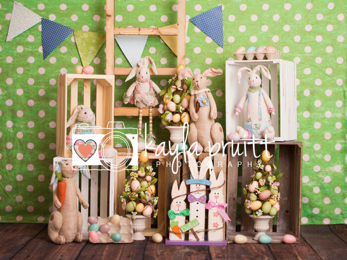 Bunnies Unite Easter Photography Backdrop