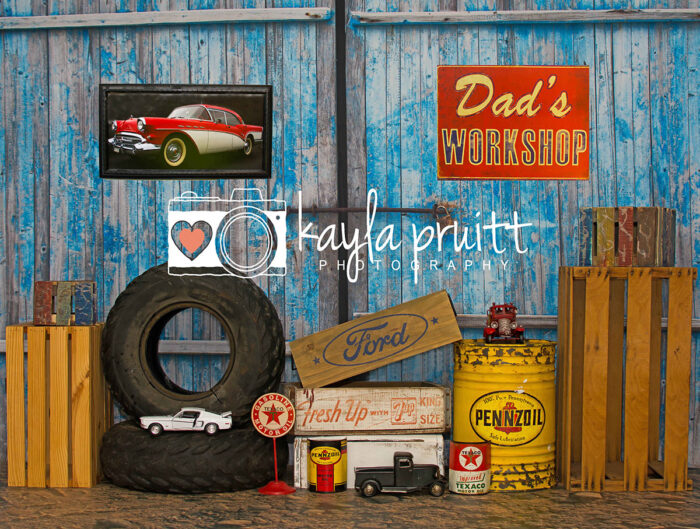 Dad's Workshop Photography Backdrop