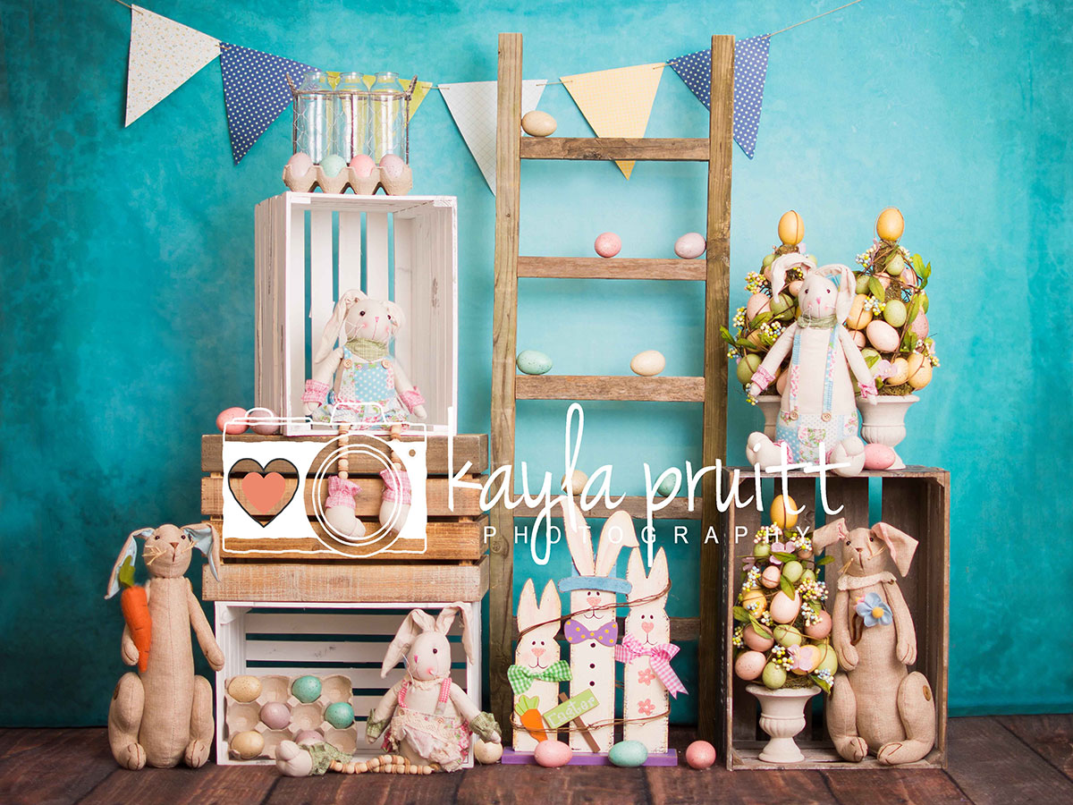 Easter Blues Photography Backdrop