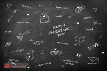 Valentine's Day sayings on Chalkboard Photography Backdrop