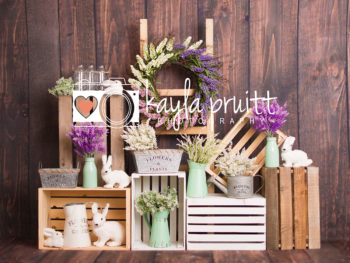 Shabby Easter Photography Backdrop