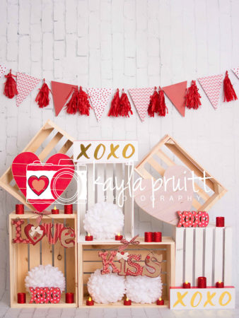 Valentine's Day crate themed Photography Backdrop