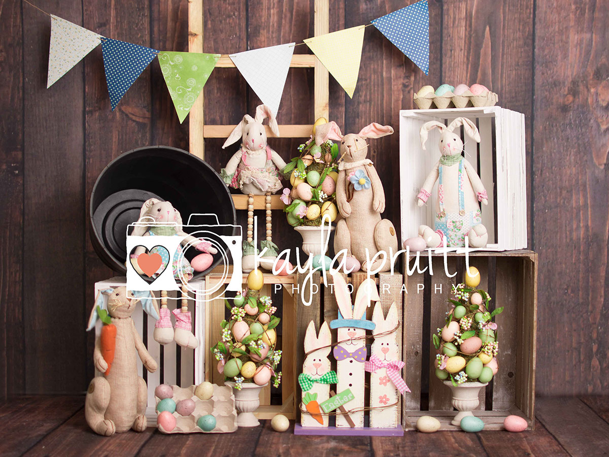 Bunny Easter Photography Backdrop
