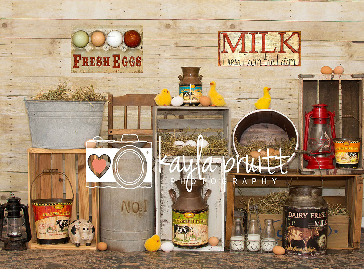 Farm Fresh Photography Backdrop
