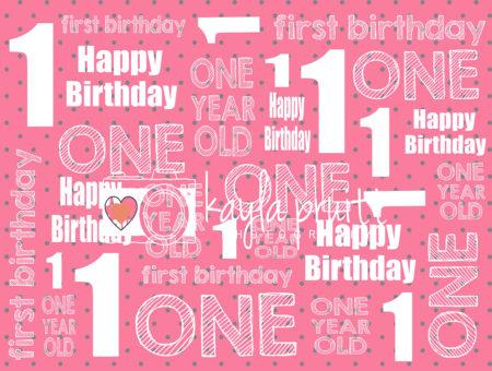 First Birthday Pink