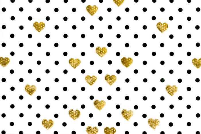 Grunge Dots Gold Hearts Photography Backdrop