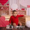 Valentine's Day Photography Backdrop with little boy smiling