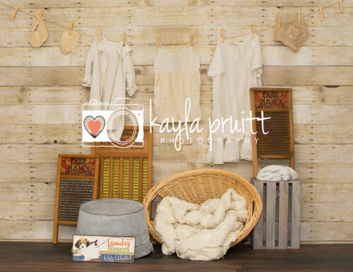 Loads of Laundry Photography Backdrop