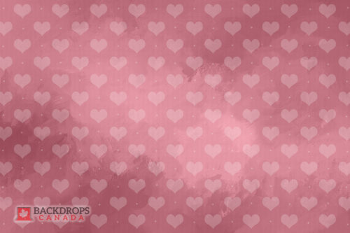 Pink Hearts Photography Backdrop