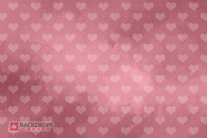 Pink Hearts Photography Backdrop