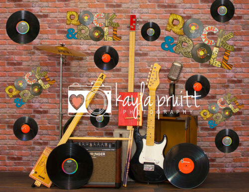 Rock n' Roll Music Photography Backdrop