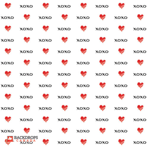 XOXO with Hearts Photography Backdrop