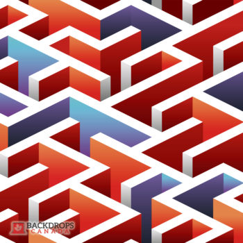 Red Blue White Maze Photography Backdrop