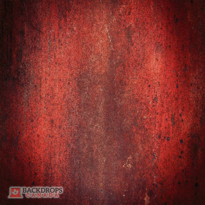 Red Metal Texture Photography Backdrop