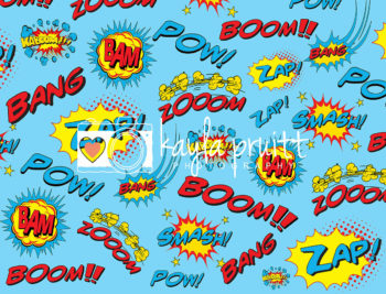Boom Zap Pow Superhero Photography Backdrop