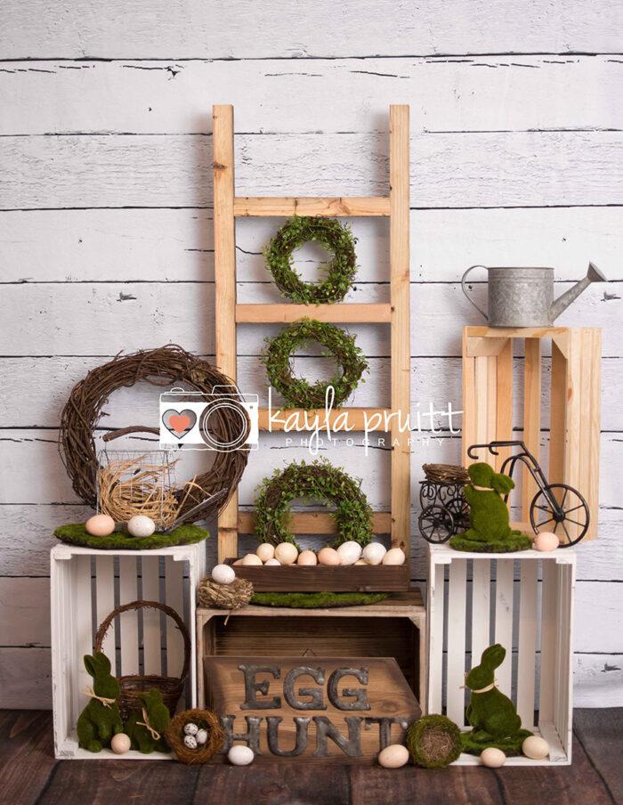 Mossy Easter Photography Backdrop