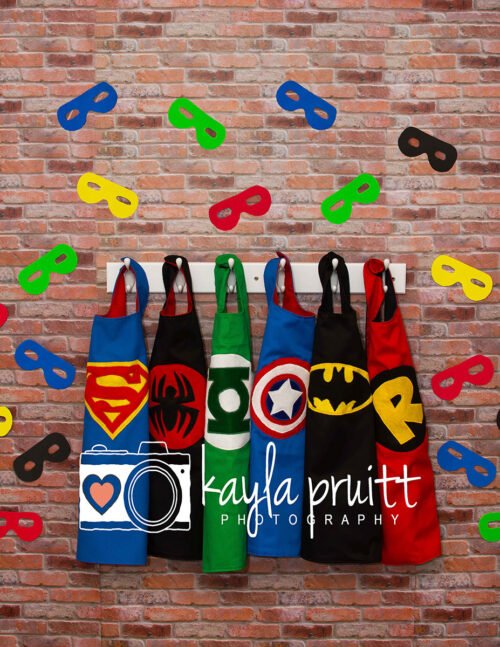 Superhero Capes with Masks Photography Backdrop