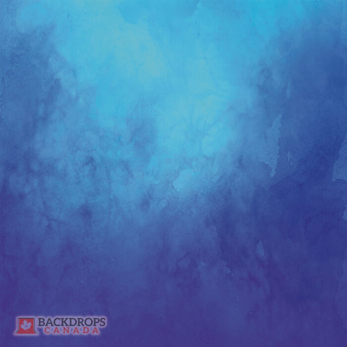 Blue Watercolour Photography Backdrop
