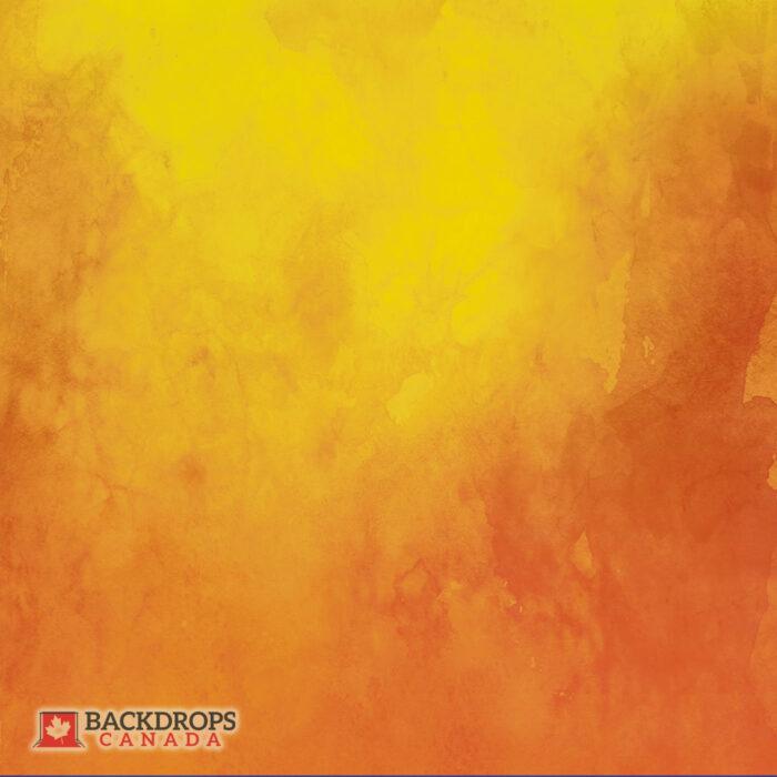 Orange Yellow Watercolour Photography Backdrop