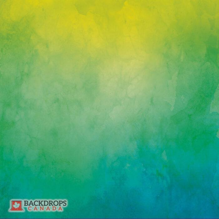 Green Blue Yellow Watercolour Photography Backdrop