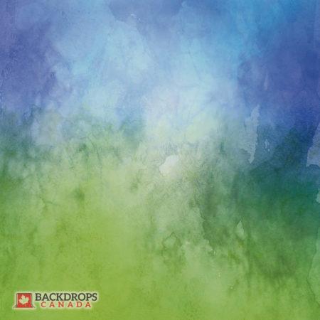 Blue Green Watercolour Photography Backdrop