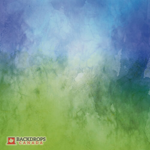 Blue Green Watercolour Photography Backdrop